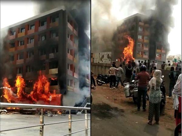 અમદાવાદની અંકુર ઈન્ટરનેશનલ સ્કૂલમાં ભીષણ આગ, 4 વિદ્યાર્થીઓએ ધાબાની ટાંકી પર જઈ પોતાનો જીવ બચાવ્યો